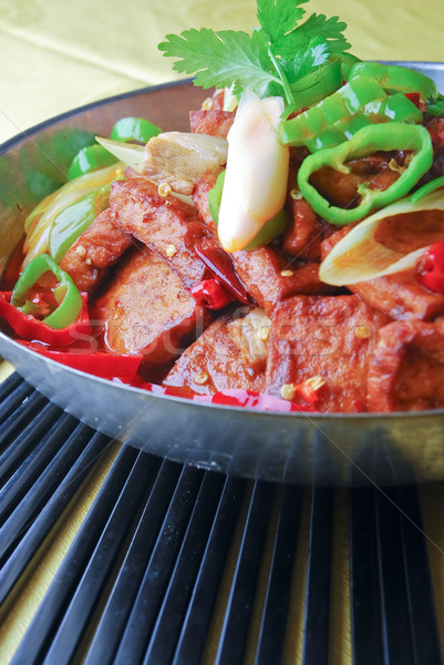 china delicious food-- chili fried bean curd Stock photo © wxin
