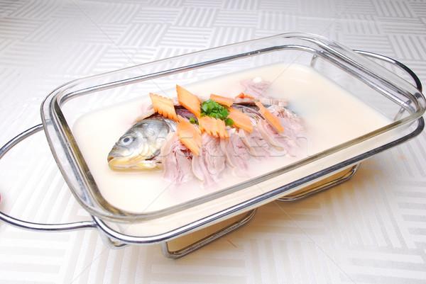Kína finom étel hal étterem szakács Stock fotó © wxin
