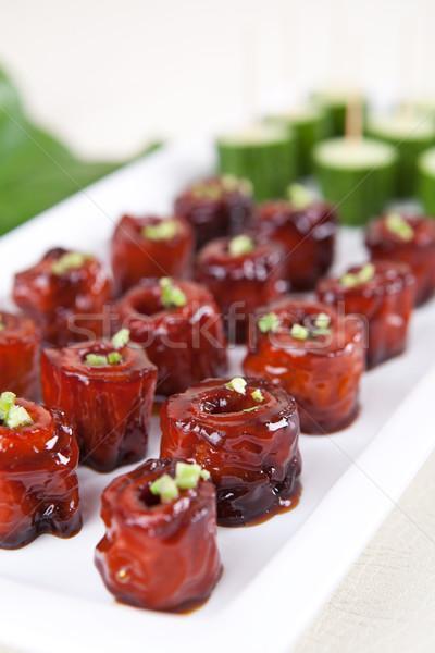 Varken voedsel China restaurant vlees kok Stockfoto © wxin