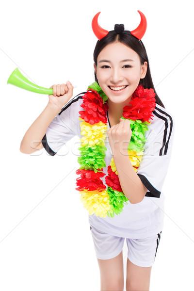 asian girl cheerleader, chinese Stock photo © wxin