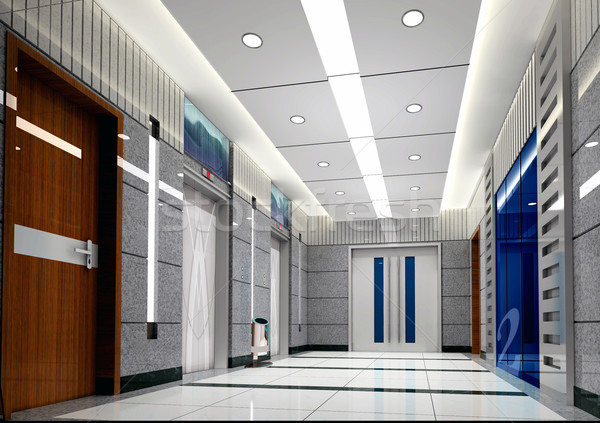 3D ascenseur lobby modernes design Photo stock © wxin