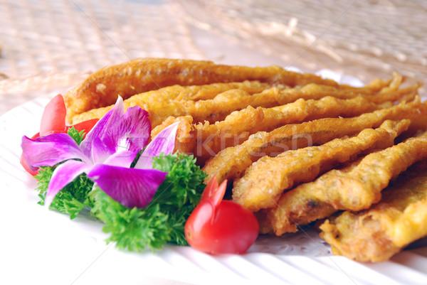 Stock fotó: Sült · hal · étel · étterem · szakács · étel