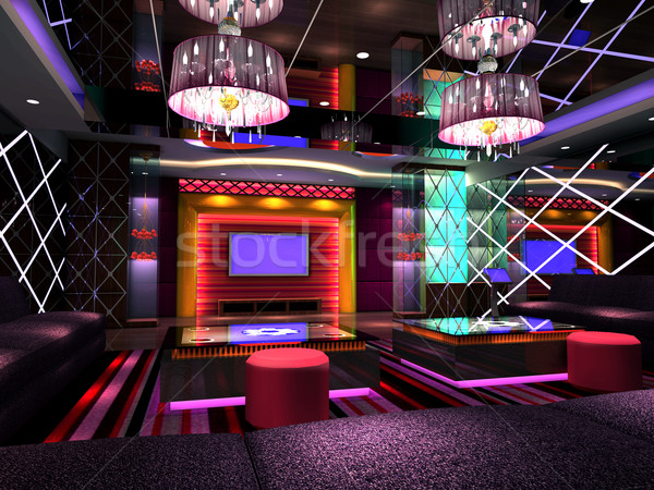 3D club room, hall Stock photo © wxin