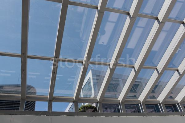 Bevásárlóközpont tető acél ki díszlet kívül Stock fotó © wxin