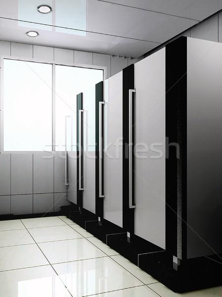 3d public bathroom Stock photo © wxin