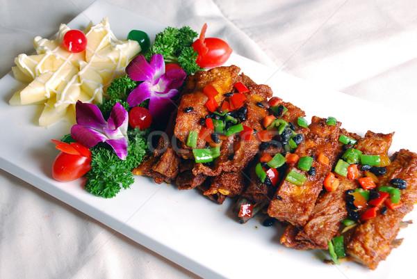 Alimentos cerdo China delicioso restaurante Foto stock © wxin