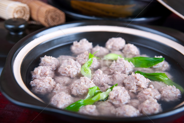 food in china--pig meat ball Stock photo © wxin