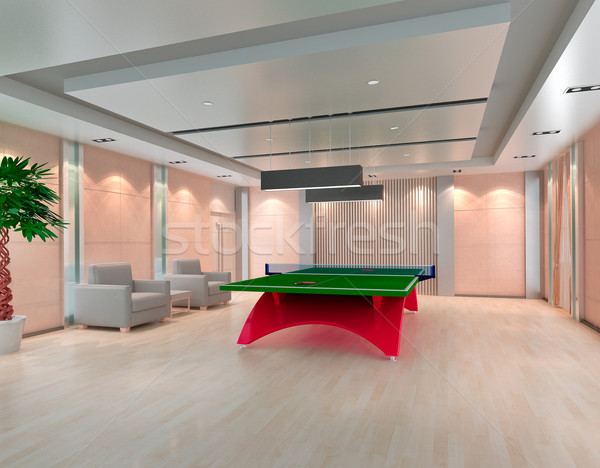 Ping Pong table in room, 3D render  Stock photo © wxin