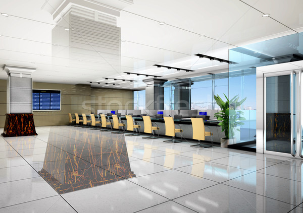 3d modern business hall Stock photo © wxin
