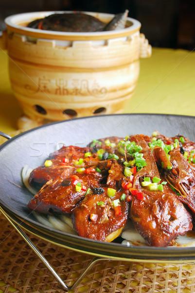 Çin lezzetli kaplumbağa kaz kafa gıda Stok fotoğraf © wxin