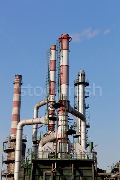 Rafineri karmaşık modern sanayi iş gökyüzü Stok fotoğraf © wxin