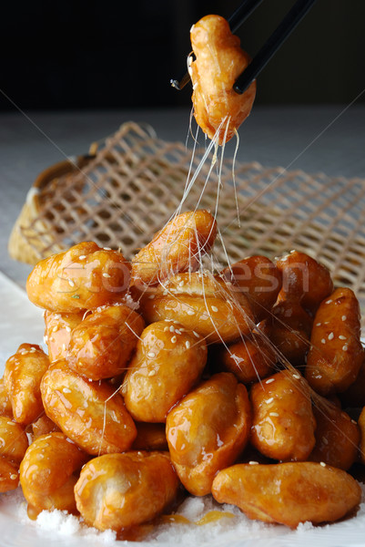 Azucarado chino alimentos cocinar dulce comida Foto stock © wxin