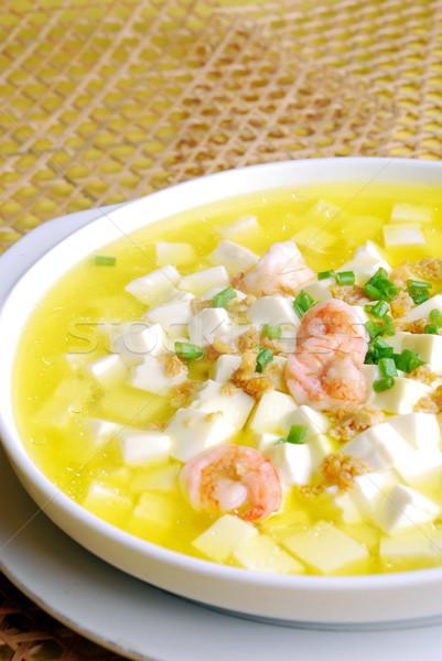 продовольствие Китай Тофу креветок суп Сток-фото © wxin