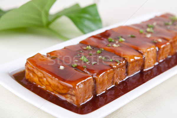 meat and bean curd Stock photo © wxin