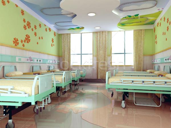 3d hospital children wards Stock photo © wxin