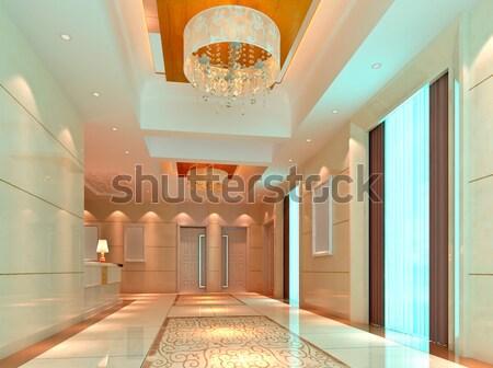3d elevator lobby rendering Stock photo © wxin