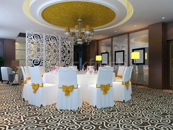 3D moderne restaurant ontwerp kamer club Stockfoto © wxin