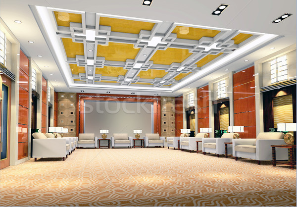 3d reception room rendering Stock photo © wxin