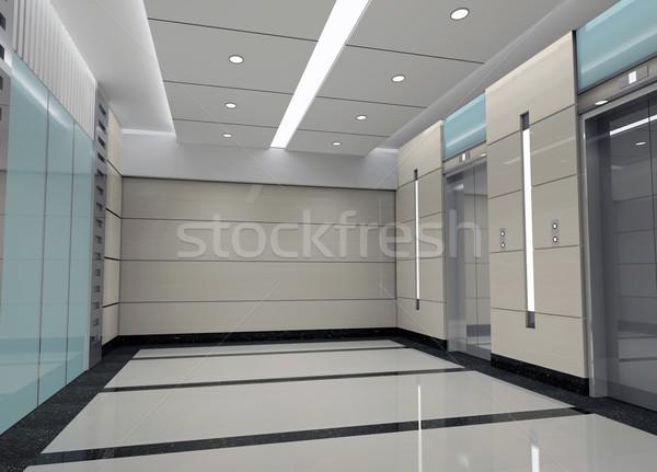 3D windy lobby nowoczesne projektu Zdjęcia stock © wxin
