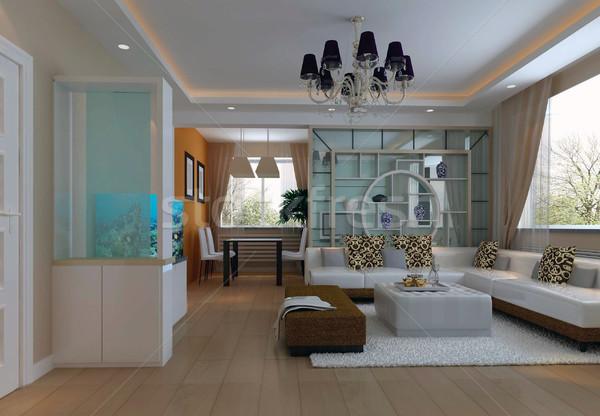 3d render moderne interieur woonkamer ontwerp huis Stockfoto © wxin