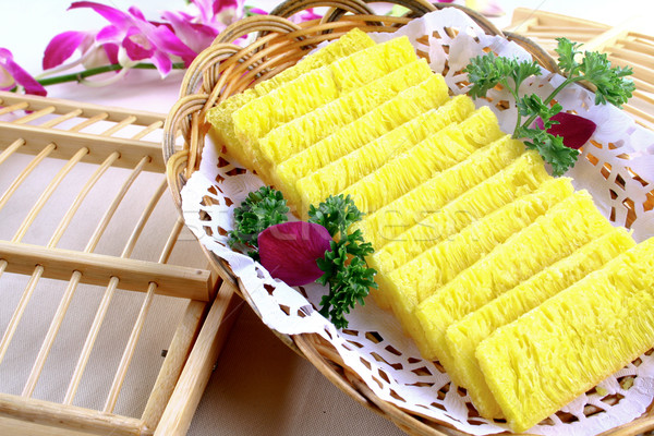china delicious food--shark fin golden cake Stock photo © wxin