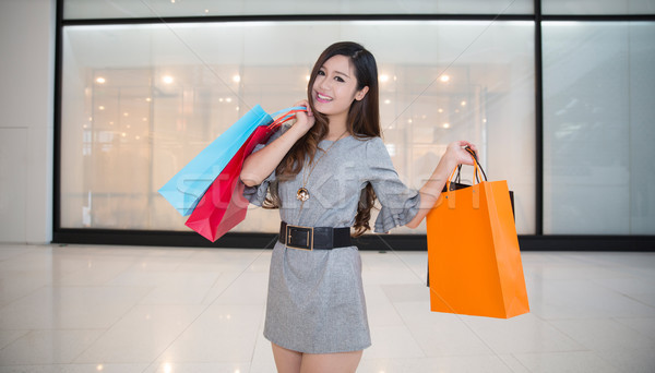 woman with shopping bags Stock photo © wxin