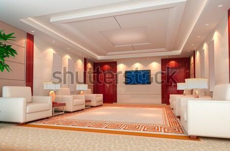 3D hálószoba renderelt kép modern terv belső Stock fotó © wxin