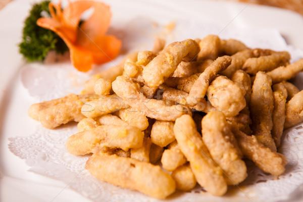 Kínai finom étel sült hús darabok Stock fotó © wxin