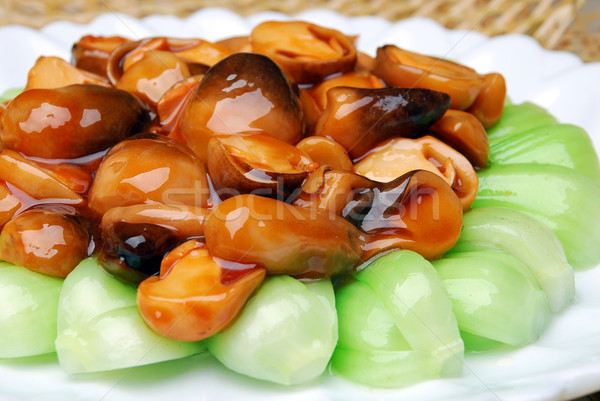 china delicious food--mushroom cook vegetable Stock photo © wxin
