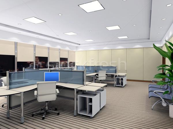 Stockfoto: 3D · moderne · kantoor · kamer · niemand · 3d · render