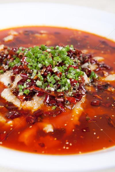 Kína finom étel főtt hal étterem Stock fotó © wxin