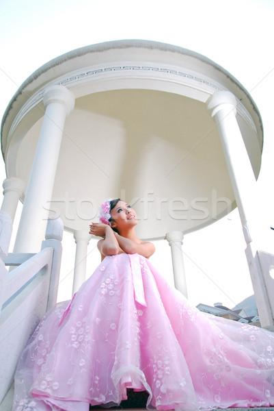結婚式 写真 小さな 結婚 白 ドレス ストックフォト © wxin