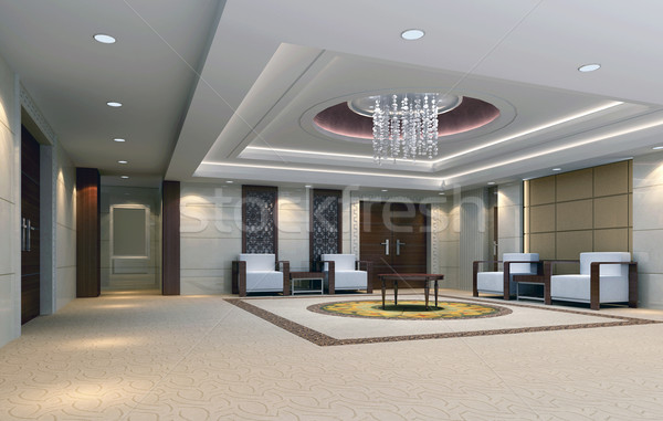 3d reception room rendering. meeting room Stock photo © wxin