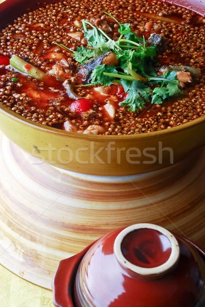 Kínai étel hal Kína finom étel étterem Stock fotó © wxin