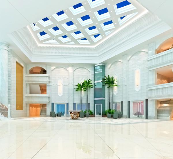 3D современных дизайна интерьер 3d визуализации бизнеса Сток-фото © wxin
