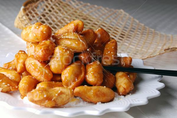 Geglaceerd chinese voedsel kok zoete maaltijd Stockfoto © wxin