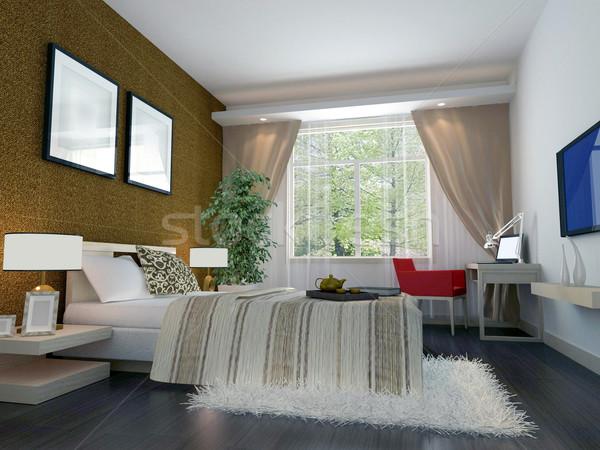 3d slaapkamer moderne ontwerp interieur for 3d interieur ontwerp