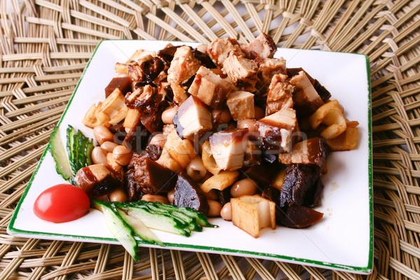Stock fotó: Kína · finom · étel · lótusz · marhapörkölt · földimogyoró