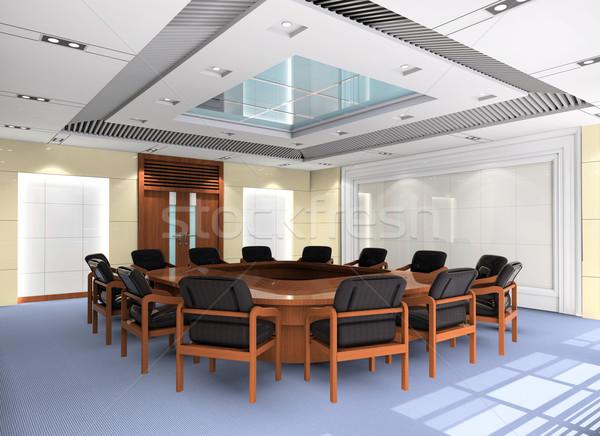 Stock fotó: 3D · tárgyalóterem · számítógép · generált · kép · modern