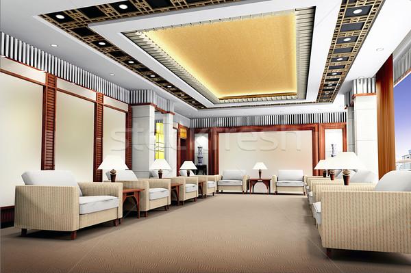 3D reception stanza business costruzione Foto d'archivio © wxin