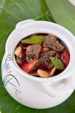 Tyúk hús leves otthon szakács Ázsia Stock fotó © wxin