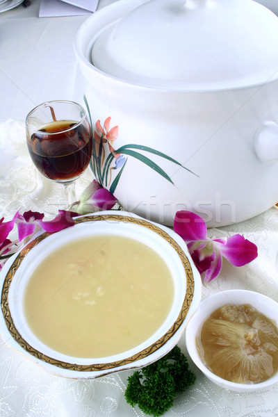 food in china - shark fin soup Stock photo © wxin