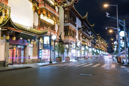 Shanghai city god temple, shanghai city street, burred crowd Stock photo © wxin