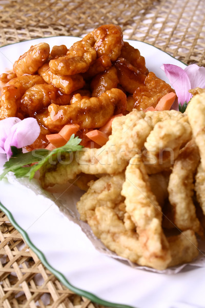 food in china--fried meat Stock photo © wxin