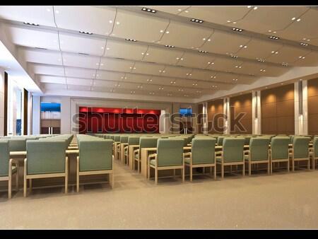 D · render modern belső nappali étterem terv