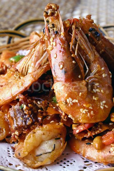 Garnalen voedsel kok asia maaltijd Stockfoto © wxin
