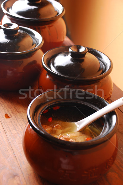 china delicious food-- chicken soup Stock photo © wxin