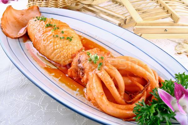 braised squid Stock photo © wxin