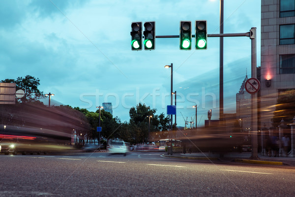 the light trails of city traffic Stock photo © wxin