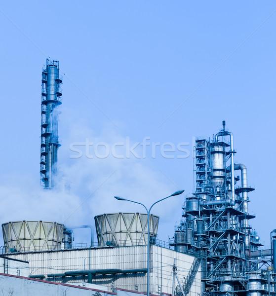 Refinería complejo moderna industria negocios cielo Foto stock © wxin